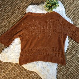 Anthro MOTH open knit top